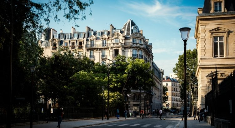 Residential streets in the 3rd arrondissement of Paris