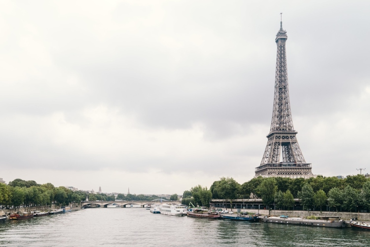 The view of the Eiffel Tower from the Seine