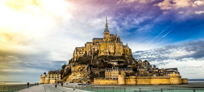 Mont-Saint-Michel, the most awe-inspiring of all destinations on our list of weekend trips from Paris