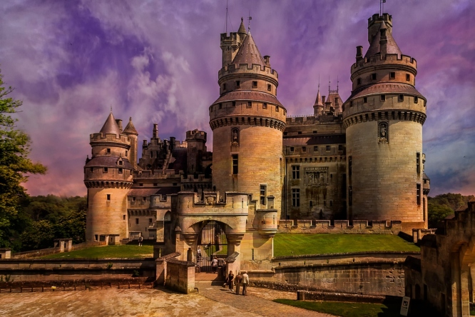 Chateau de Pierrefonds, one of the popular castles to visit on a day trip from Paris