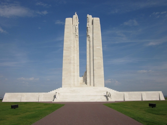 Many popular day trips from Paris include visiting This monument at Vimy ridge