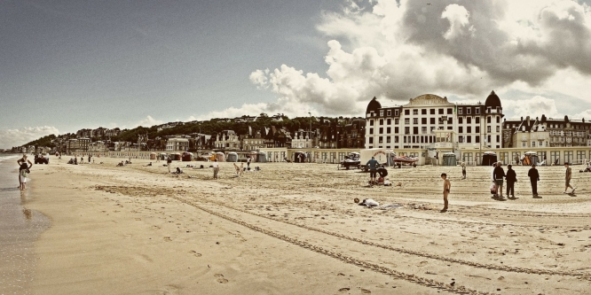 Trouville, Normandy, one of the popular weekend trip destinations for beach-goers from Paris