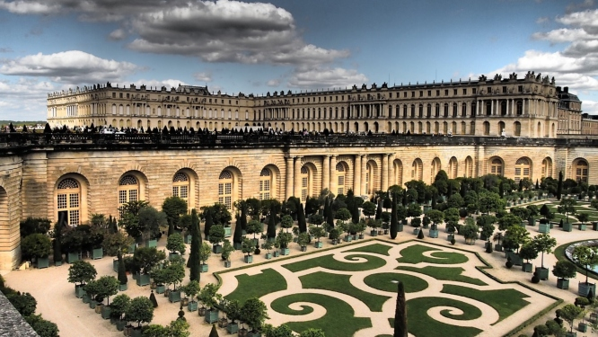 The Palace of Versailles, which is the most popular of all the day trips from Paris