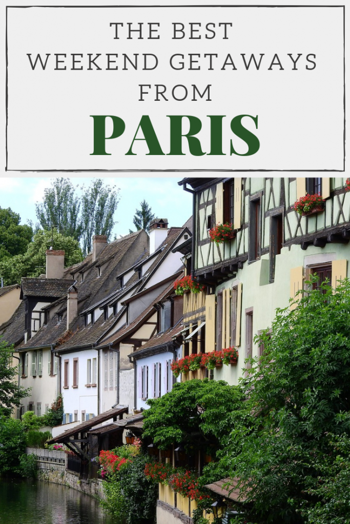 Best weekend destinations from Paris pin