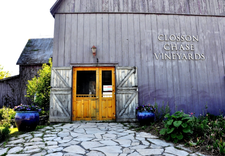 Closson Chase Vineyards, one of the Prince Edward County Wineries with a restaurants