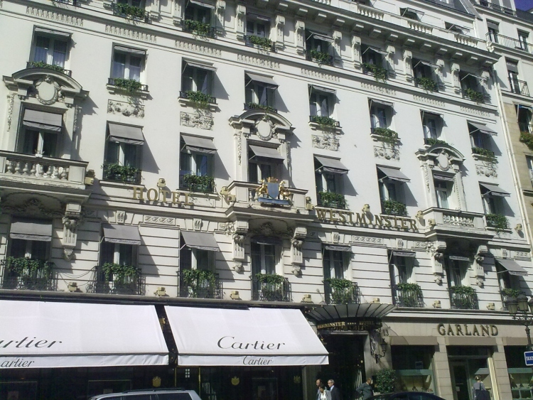 The historic Hotel Westminster in Paris