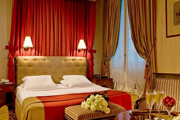 A room at the Hotel d'Aubusson