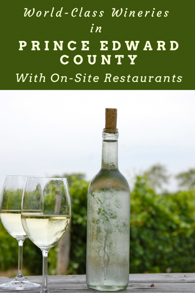 Prince Edward County wineries with restaurants pin