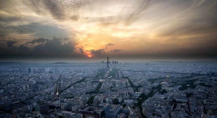 The view from Le Ciel de Paris, which is the highest restaurant with Eiffel Tower views