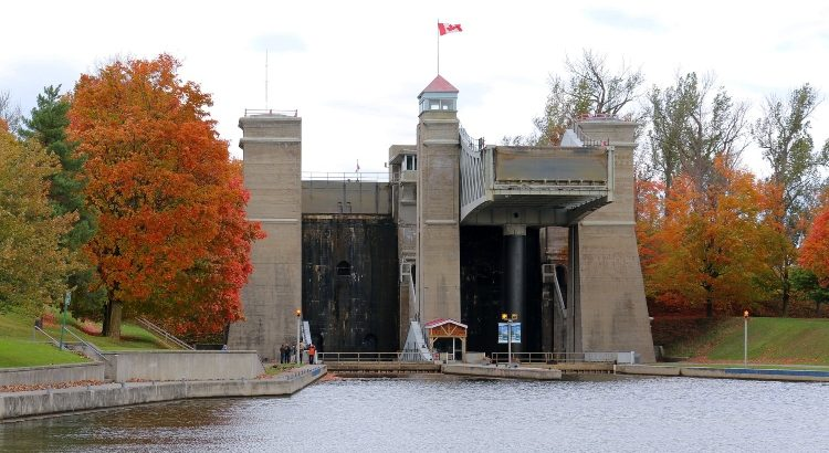 The Liftlocks, which are one of the main attractions in Peterborough and the Kawarthas