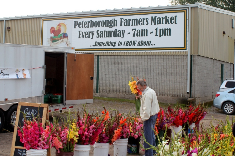 Flower stand at the Peterborough Farmers Market