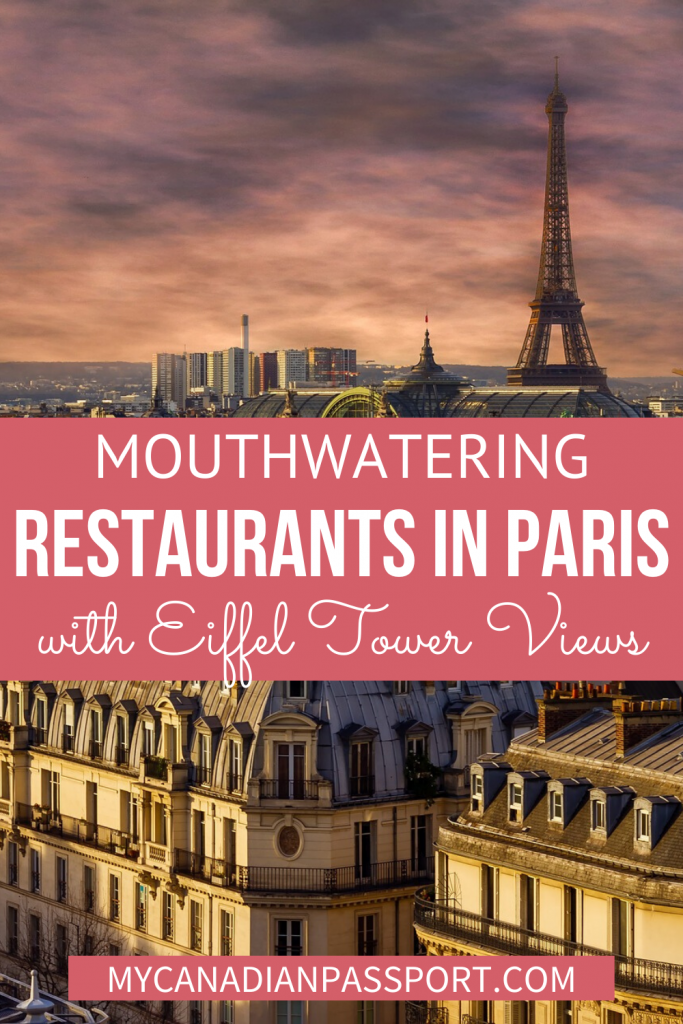 Eiffel Tower View Restaurants Pin