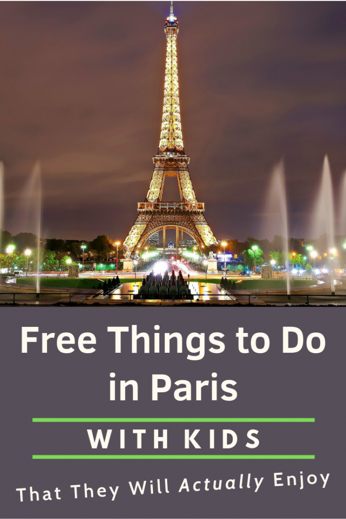 Free Things to Do in Paris with Kids Pin