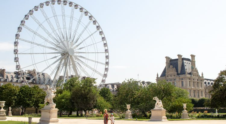 The Tuileries Gardens in Paris, where there are many great things to do for toddlers