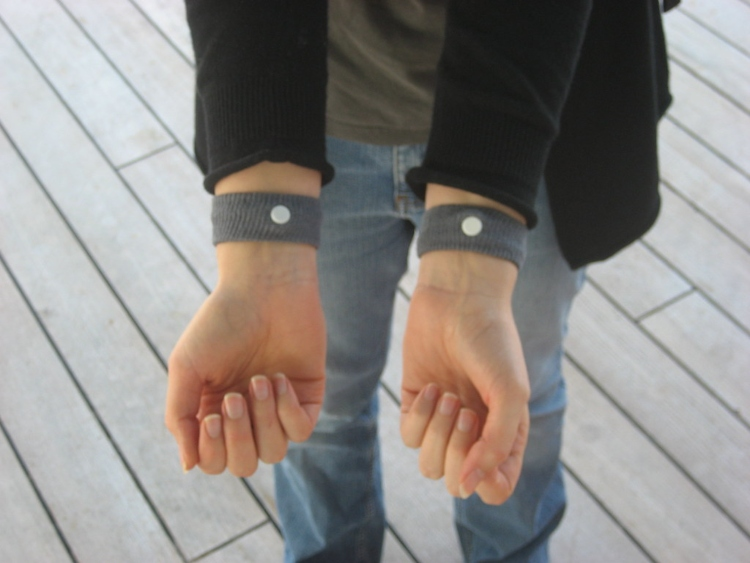 Acupressure wristbands, which are one way to avoid getting seasick