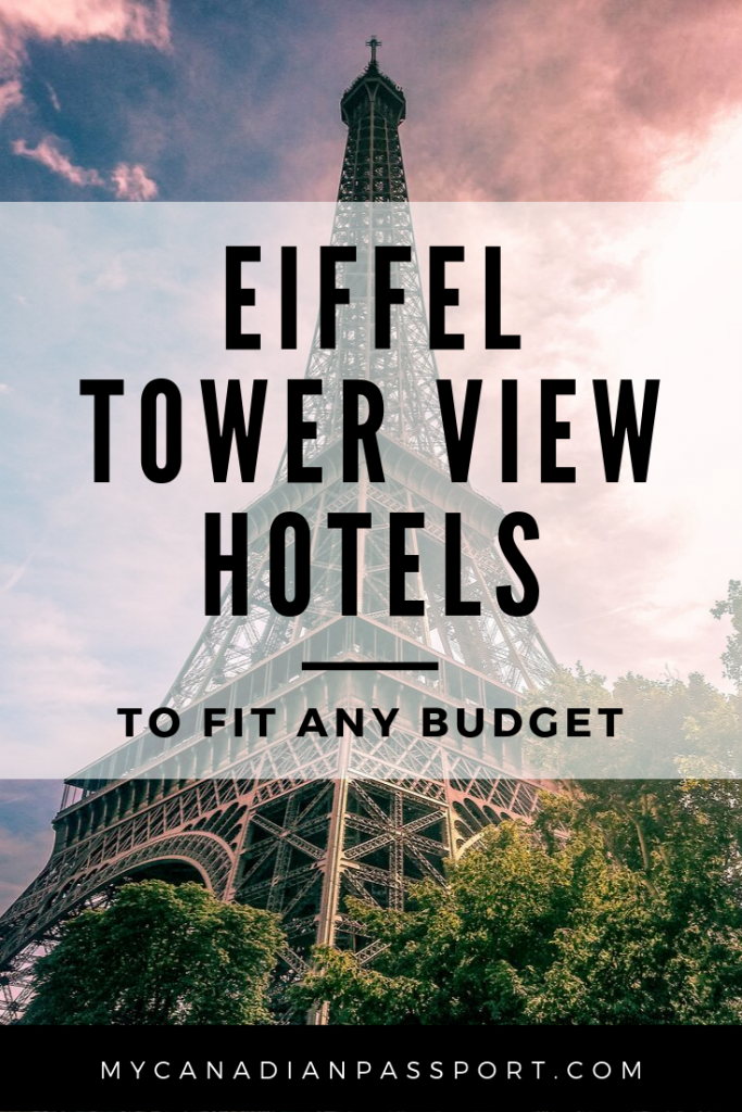 Eiffel Tower View Hotels Pin