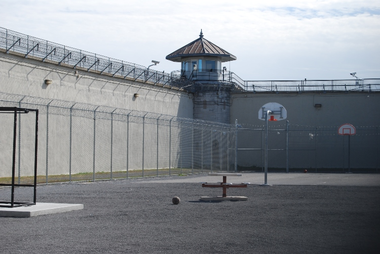 The yard inside the Kingston Penitentiary