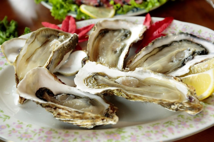 Oysters, which are served on the half-shell, are popular in the restaurants of Paris