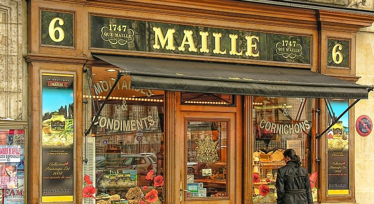 Maille Paris, which sells lovely souvenir gift boxes