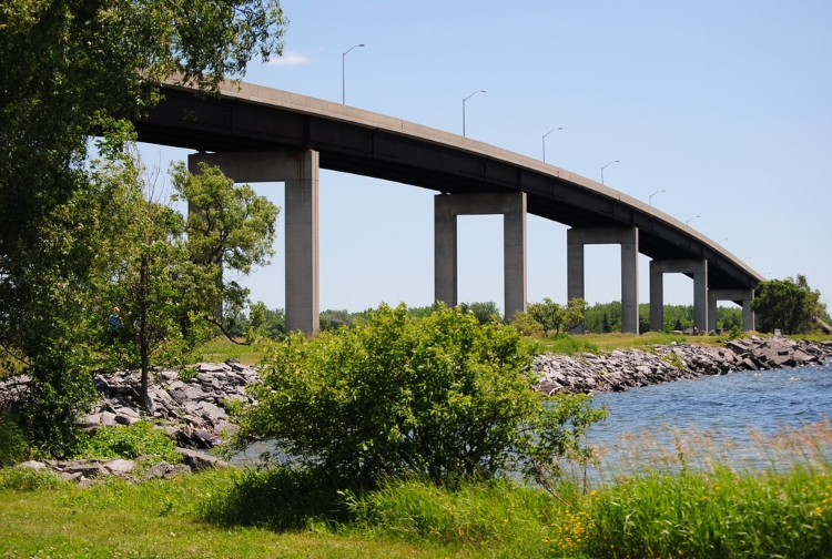 The Bay Bridge, a great spot for fishing in Belleville