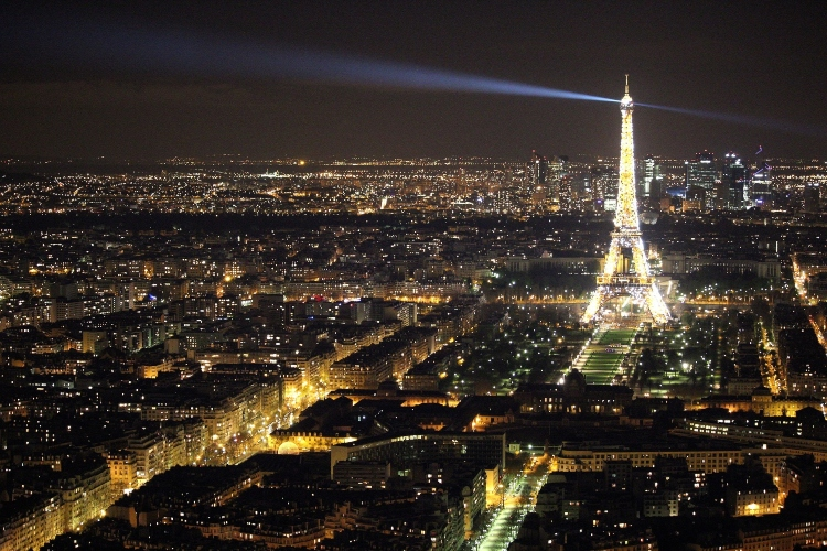 The Eiffel Tower and the Paris skyline at Night