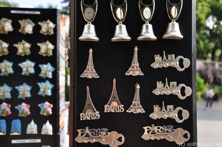 Paris fridge magnet souvenirs