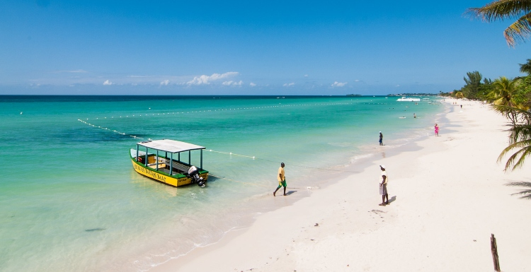 7 Mile Beach - the most popular thing to do in Negril.