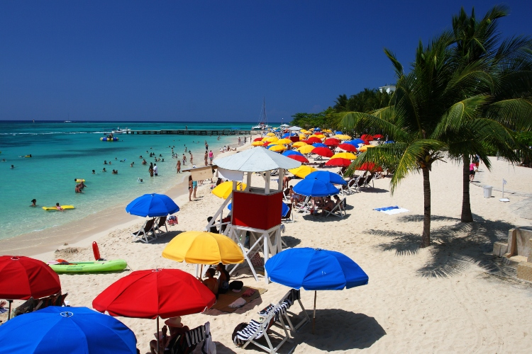Visiting Doctor's Cave Beach, which is one of the popular things to do amongst cruise ship passengers in Montego Bay