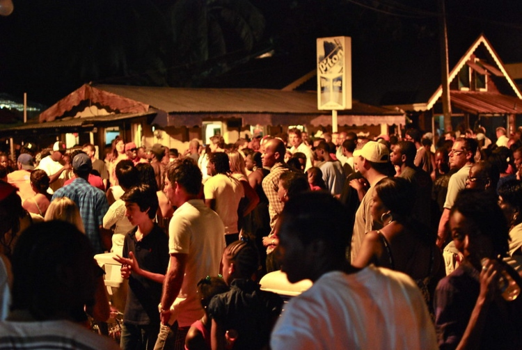 The Gros Islet Street Party, which is is one of the most fun things to do in St. Lucia.