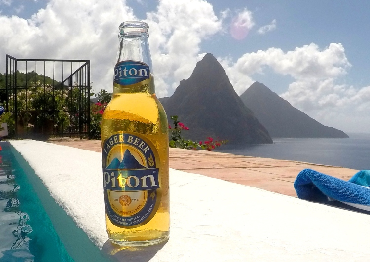 There's nothing better to do in St. Lucia than enjoying a Piton beer