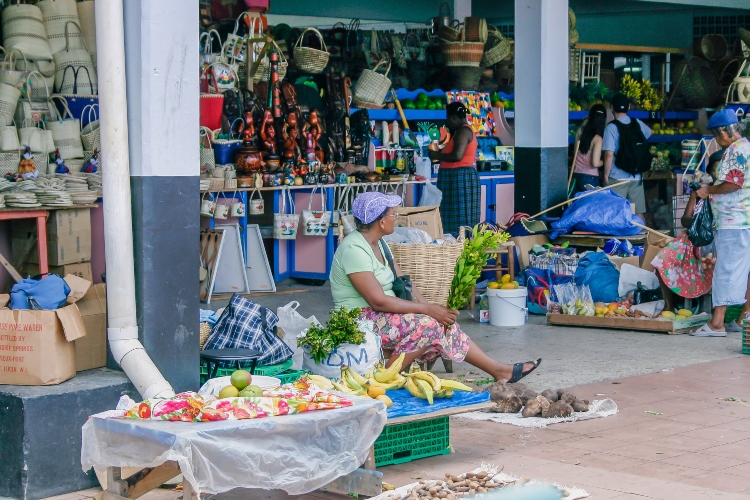 The Castries Market, interesting facts about St. Lucia
