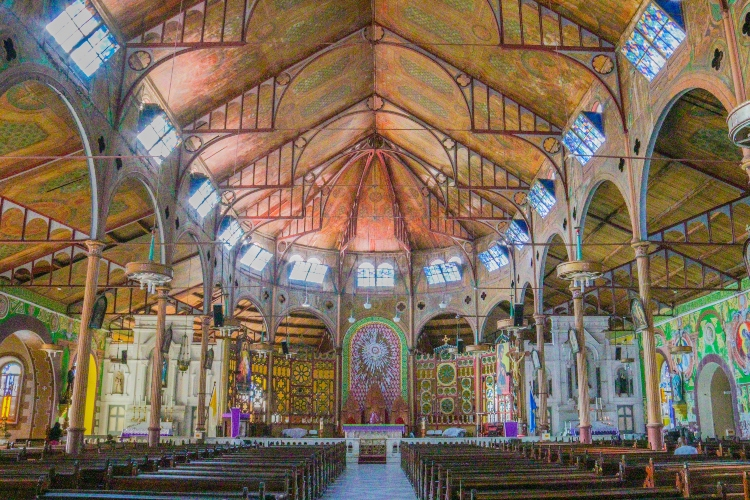 Inside The Cathedral of the Immaculate Conception - Things to do in St. Lucia