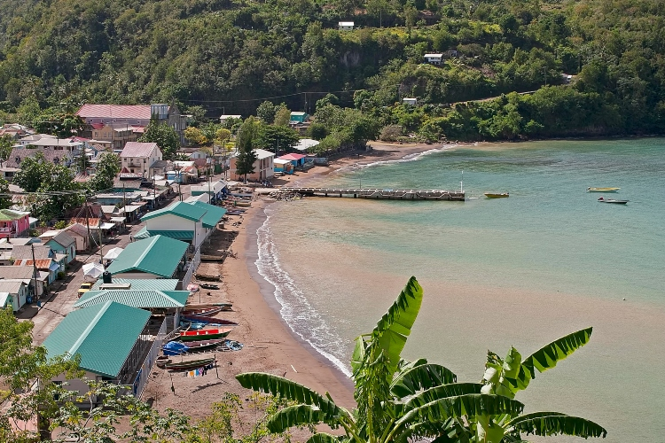Anse la Raye, a fishing village we visited on our Island Expo Tour with Real St Lucia Tours - tour review